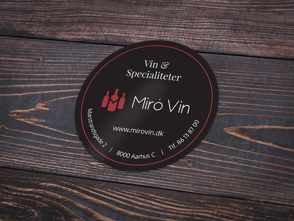 Miró vin sticker